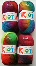 KING COLE RIOT DK/DOUBLE KNITTING WOOL/YARN - 100g - 4 COLOUR CHOICES