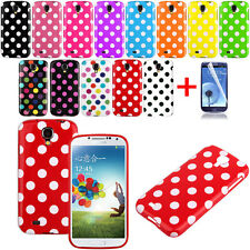 NEW Polka Dot Pattern TPU Rubber Soft Case Cover For Samsung Galaxy S4 IV i9500