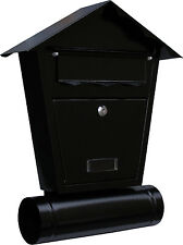 Steel Wall Mounted Letter Box with Newspaper Holder Steel Post Boxes,