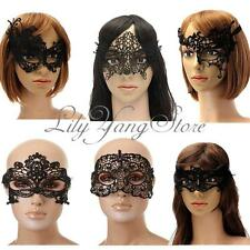 Sexy Black Lace Eye Mask Masquerade Venetian Face Costume Party Fancy Ball Dress