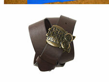 NWT AEROPOSTALE  BROWN OWL BUCKLE BELT SO CUTE M OR L
