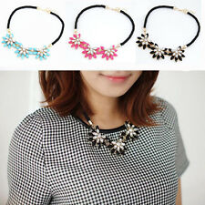 Chic Fashion Charm Jewelry Crystal Chunky Statement Bib Pendant Chain Necklace