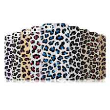 Leopard Pattern PU Leather Skin Hard Plastic Back Case Cover For iPhone SE 5S 5
