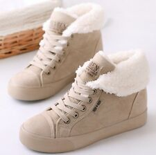 New Fashion Winter Sneakers Suede Fabric Height Increasing Snow Boots For Lady