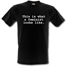 THIS IS WHAT A FEMINIST LOOKS LIKE Heavy Cotton T-shirt Sizes:Small to XXL