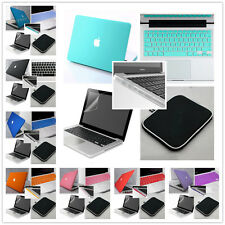 """(5in1)Rubberized Hard Laptop Case Cover for Macbook Pro 13""""15"""" & Air 11""""13"""" inch"""