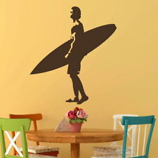 Surfing Wall Stickers! Surf Board Transfer / Surfer Graphic Surfing Decor RA249