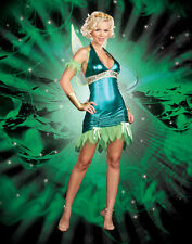 Faulty Ladies Dreamgirl Lil Green Fairy - Wings Costume Fancy Dress UK 10 - 18