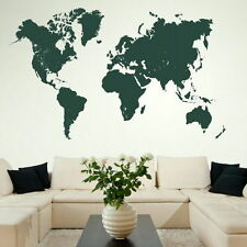 Map Of The World Large Vinyl Transfer Giant Removable Wall Sticker bn12
