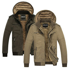TOP SALE~~ 100% Cotton Mens Coats Casual Jackets Outwear Work Oudoor Windbreaker