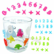 Glass Wine Cup Silicone Label Tag Marker Sucker Identification Digital 14pcs LOT