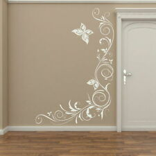 Corner Floral Wall Transfer Removable Vinyl Decor Flower Wall Sticker x26