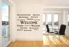 Welcome Interior Wall Quote Huge Wall Decal Big Removable Wall Quote QU50