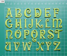 "Apple Green Iron on 1"" Height 100% Embroidered Alphabet Letters Patch for Choice"