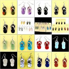 B6915 Pair gemstone slippers earring,more material to select