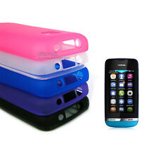Glossy Soft TPU Gel Frosted Silicone Phone Case Cover for Nokia Asha 311