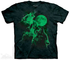 3 Wolf Moon Glow  Mountain T-Shirt - Adult S - 5X & Child S - XL