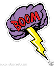 BOOM  DECAL BUMPER STICKER LIGHTENING BOLT THUNDER CLOUD