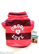 XS SM MED New Martha Stewart Pet DROOL LOVE POLO Dog Shirt Pet Clothes Dog Dress