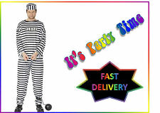 Smiffys Convict Mens Fancy Dress Costume Outfit Cops Police Prisoner Robber
