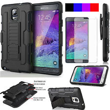 Armor Hybrid Protective Rugged Hard Holster Case Cover For Samsung Galaxy Note 4