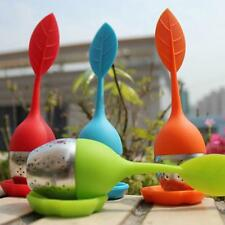 3 Color Silicone Stainless Steel Leaf Tea Strainer Infuser Ball Spice Filter