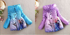 Cartoon Girl Snowsuits Outwears Kids Slim Lined Coat Jacket