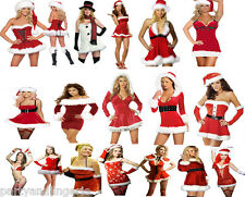Miss Sexy Santa Christmas Costume Fancy Dress Xmas Outfit Office Party Work