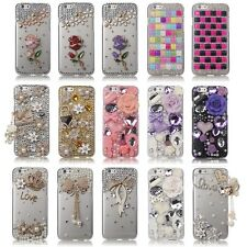 LUXURY 3D BLING CRYSTAL DIAMOND HARD CASE COVER FOR APPLE IPHONE 6 [4.7]
