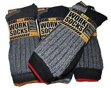MENS ULTIMATE KATO WORK SOCKS BOOT SAFETY CUSHION SOLE SIZE 6-11 MIXED COLOURS