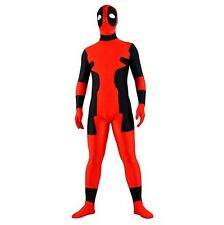 Deadpool Costume Lycra Spandex Zipper Full Body Zentaisuit Halloween Costume
