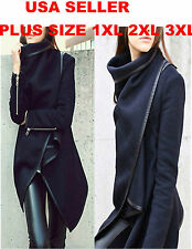 Fashion Womens Slim WOOL Warm Coat Jacket Trench Windbreaker Parka Outwear