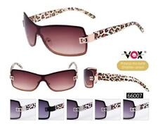 Trendy Sexy Animal Print Leopard Designer Bling Cowgirl Rimless Sunglasses