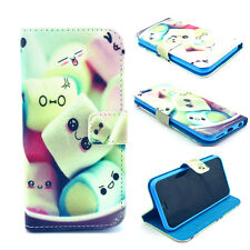 Cute Jelly Pudding Hybrid Wallet Leather Case Cover FOR iphone Samsung HTC MOTO