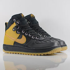 Nike Air Force 1 Duckboot Black/Wheat/Light Brown/Gum Leather Boots 444745-006