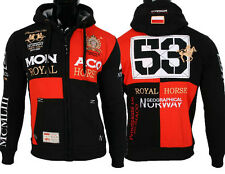 Geographical Norway Herren Winter Sweat Jacke Pullover Stickerei Hoodie Monaco