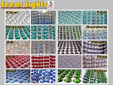 CHANDELIER DROPLETS BEADS CRYSTALS WEDDING GARLAND 14MM DECORATION DROPS BEADS