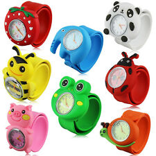 Cute Cartoon Children Kid Unisex Sports Bendable Rubber Strap Quartz Wrist Watch