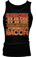 Exercise Eggs Are Sides For Bacon Meat Breakfast Food Funny Boy Beater Tank Top