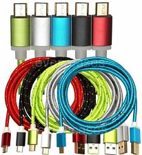 NEW 5FT Aluminum Metallic Braided Micro USB Data Sync Charger Cable for Android