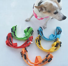 LED PET GLOW-IN -THE-DARK HARNESS dog cat night safety neck harness flash light
