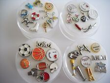 Floating Charms for Glass Lockets  Sports