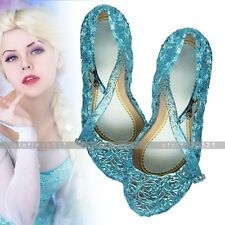 Frozen Princess Elsa Cosplay Dance Party Dress Up andals Shoes For Girls Gift