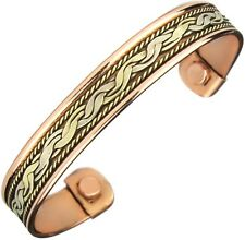 Men Women Copper Bracelet with Magnets for Therapy Arthritis Healing Pain Relief