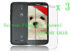 3 Clear Glossy Matte LCD Screen Protector Film Cover Skin For Huawei ASCEND G610