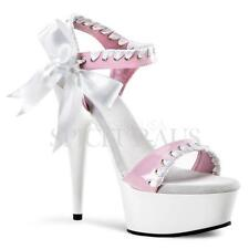 Pleaser Shoes DELIGHT-615 Sandals Heels White Pole Dancing Strippers Sexy