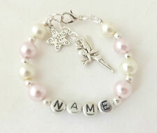 Personalised Girls Bracelet, Choice of Colour & Charm, All Occasions, Gift Bag