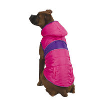 NEW East Side Collection Polyester Brite Stripe Dog Warm Parka Navy or Pink