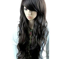 New Womens Girls Sexy Long Fashion Curly Full Wavy Hair Wig 3 Colors Hot gift