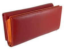 Leather Double Zip Around Coin Purse with 16 Card Slots - Gift Boxed, 3 Colours